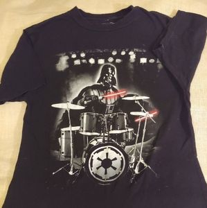 Youth (L) Star Wars Tee- Vader playing Drums